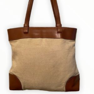 Canvass & Leather Shoulder bag by Talbots